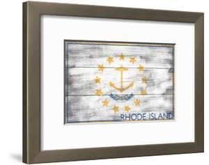 Rhode Island State Flag - Barnwood Painting by Lantern Press
