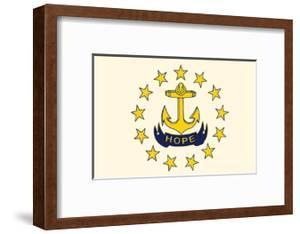 Rhode Island State Flag by Lantern Press