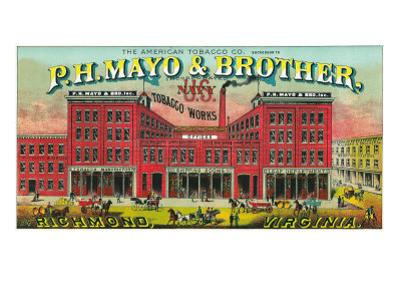 Richmond, Virginia, P.H. Mayo and Brother US Navy Brand Tobacco Label