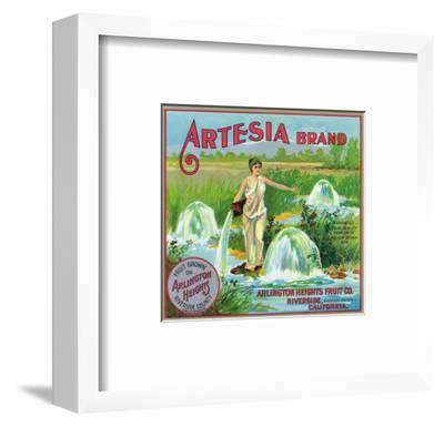 Riverside, California, Artesia Brand Citrus Label