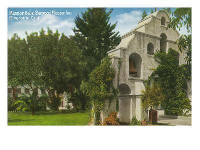 Riverside, California - Glenwood Mission Inn View of Mission Bells