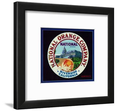 Riverside, California, National Brand Citrus Label