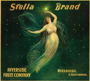 Riverside, California, Stella Brand Citrus Label by Lantern Press