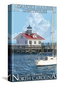 Roanoke Marshes Lighthouse - Outer Banks, North Carolina by Lantern Press