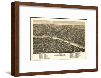 Rockford, Illinois - Panoramic Map