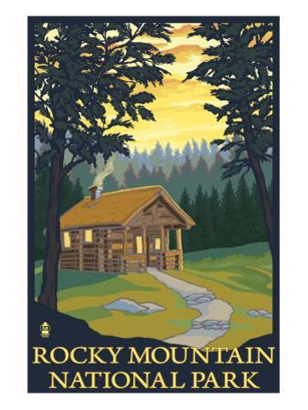 Rocky Mountain National Park, Co - Cabin Scene, c.2009