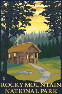 Rocky Mountain National Park, Co - Cabin Scene, c.2009 by Lantern Press