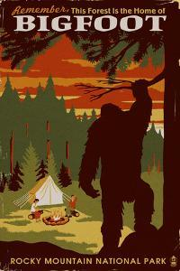Rocky Mountain National Park - Home of Bigfoot by Lantern Press