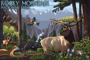 Rocky Mountain National Park - Wildlife Utopia by Lantern Press
