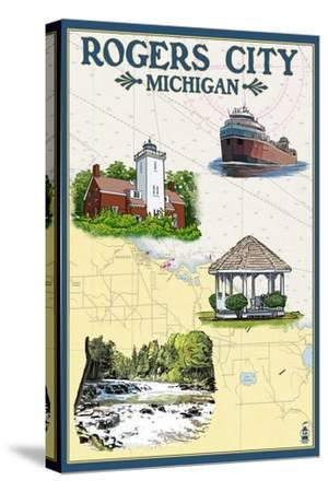 Rogers City, Michigan - Nautical Chart