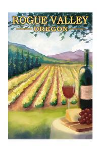 Rogue Valley, Oregon - Wine Country by Lantern Press