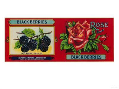 Rose Blackberry Label - San Francisco, CA