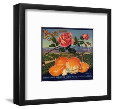 Rose Brand - Redlands, California - Citrus Crate Label