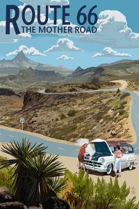 Route 66 - Hairpin Breakdown by Lantern Press