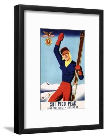 Rutland, Vermont - Flexible Flyer Pin-Up Skiing Girl Promotional Poster