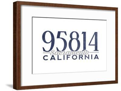 Sacramento, California - 95814 Zip Code (Blue)