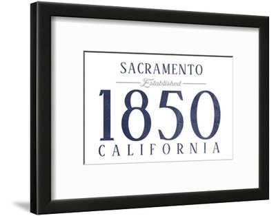 Sacramento, California - Established Date (Blue)