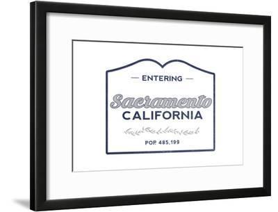 Sacramento, California - Now Entering (Blue)
