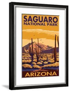 Saguaro National Park, Arizona by Lantern Press