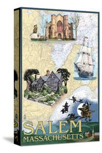 Salem, Massachusetts - Nautical Chart by Lantern Press