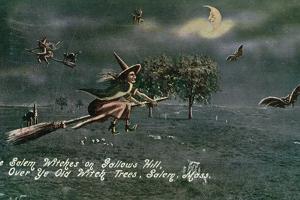 Salem, Massachusetts - Salem Witches on Gallows Hill Scene by Lantern Press