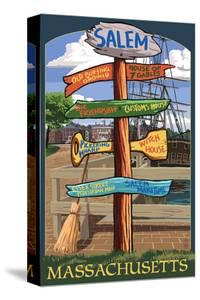 Salem, Massachusetts - Sign Destinations by Lantern Press