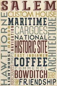Salem, Massachusetts - Version 3 - Typography by Lantern Press