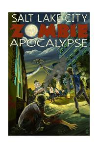 Salt Lake City, Utah - Mormon Zombie Apocalypse by Lantern Press