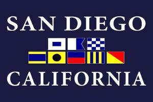 San Diego, California - Nautical Flags by Lantern Press