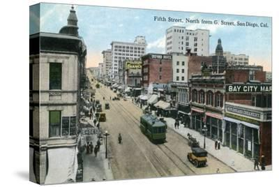 San Diego, California - Northern View of 5th Street from G Street