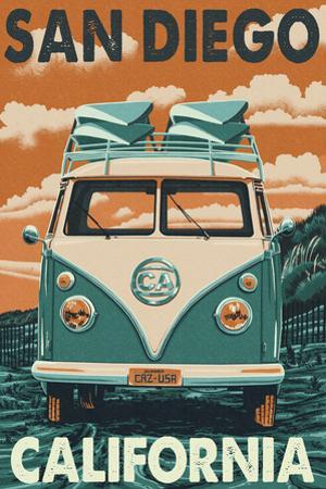 San Diego, California - VW Van