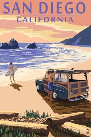 San Diego, California - Woody on Beach