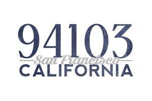San Francisco, California - 94103 Zip Code (Blue) by Lantern Press