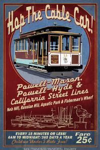 San Francisco, California - Cable Car by Lantern Press