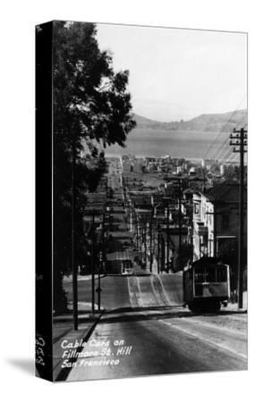 San Francisco, California - Cable Cars on Fillmore Street Hill