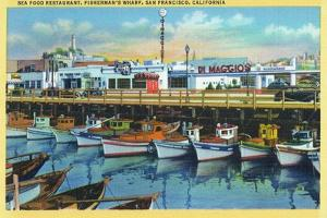 San Francisco, California - Dimaggio's Restaurant on Fisherman's Wharf by Lantern Press