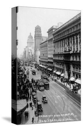 San Francisco, California - Emporium and Market Street Cable Cars