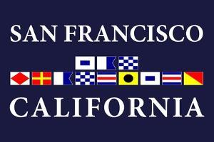 San Francisco, California - Nautical Flags by Lantern Press