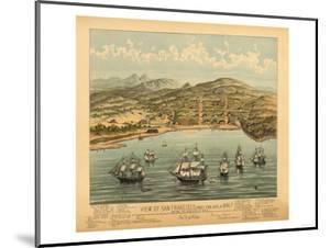 San Francisco, California - Panoramic Map No. 1 by Lantern Press
