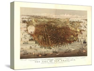 San Francisco, California - Panoramic Map No. 4