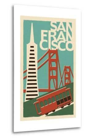 San Francisco, California - Woodblock