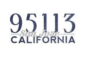San Jose, California - 95113 Zip Code (Blue) by Lantern Press
