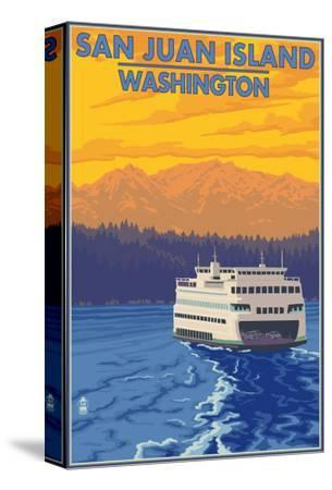 San Juan Island, Washington - Ferry and Mountains