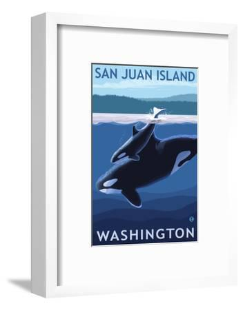 San Juan Island, Washington - Orca and Calf