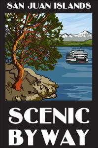 San Juan Islands Scenic Byway, Washington - Official Logo by Lantern Press