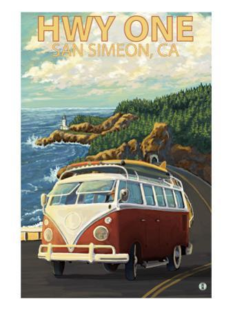 San Simeon, CA - VW Van Coastal Drive