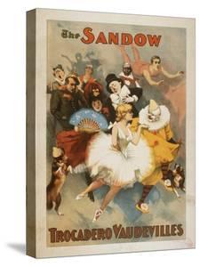 Sandow Trocadero Vaudevilles Carnival Theme Poster by Lantern Press