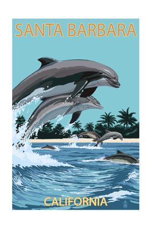 Santa Barbara, California - Dolphins Jumping