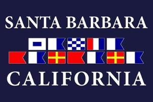 Santa Barbara, California - Nautical Flags by Lantern Press