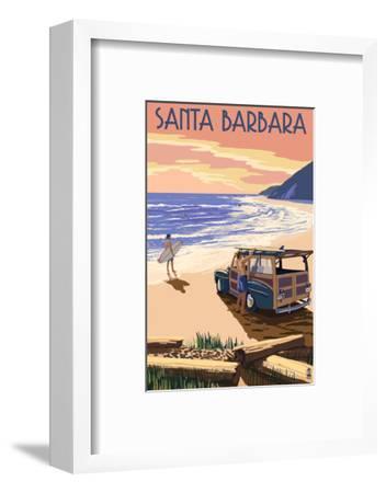 Santa Barbara, California - Woody on Beach